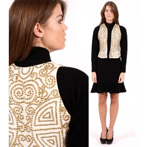 White and Gold Waistcoat