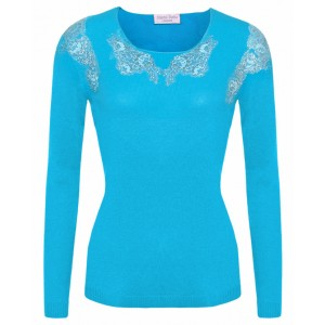 Turquoise Cashmere Top