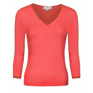 RMF Coral Cashmere Top