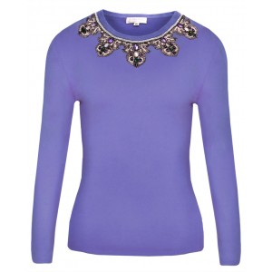 Amethyst in Lavender Cashmere Top