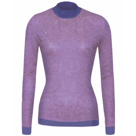 Lilac Sylvic Double Stitched Cashmere Top