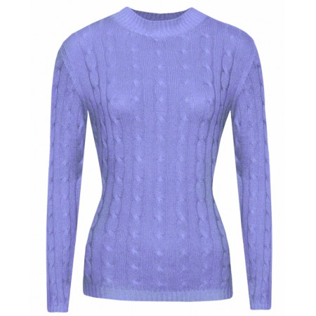 Gretta in Lavender, Cable Knit Cashmere Top