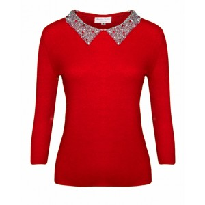 Red Pomegranate Cashmere Top