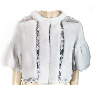 White mink on lace top