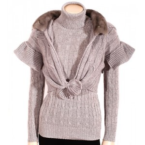 Cableknit cashmere waistcoat