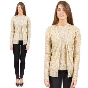Golden cashmere top